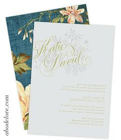 abode love: a man's home is his wife's castle: april is wedding month II: katie + david invitations