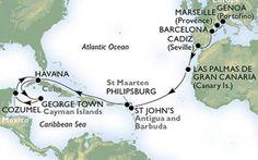 Crociere: MSC per prima nel porto di Cuba MSC Crociere è la prima compagnia a sbarcare a Cuba. Durante il lungo soggiorno nella capitale cubana, gli ospiti di MSC Opera potranno esplorare il bellissimo centro storico e scoprire la sua stori #cuba #msc #crociera #viaggi #turismo