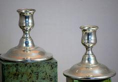 Vintage Kirk Stieff Weighted Pewter Candle Sticks #KirkStieff