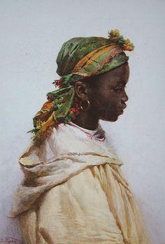 """Josep Tapiró Baró (1836 - 1913). """"Noia Tangerinai, 1789"""". Museu Reus."""