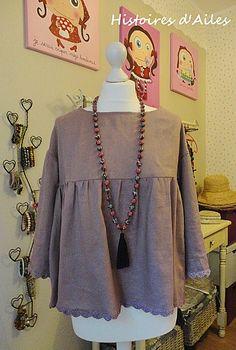 la blouse Lisette, couture japonaise