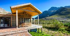 CapeNature's eco-cabins at Oudebosch are top in their category for environmentally friendly accommodation. Find them inside the beautiful Kogelberg Nature Reserve in the Western Cape Eco Cabin, Getaway Cabins, Farm Stay, Nerja, Modern Buildings, Modern Country, Vacation Places, Nature Reserve, Holiday Destinations