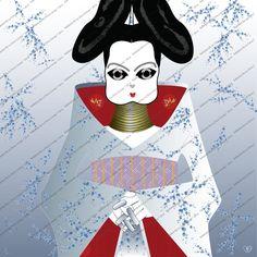 Serie Portadas de Vinilos, Ilustración Digital* de Rabbëats by la chica conejo* por DaWanda.com