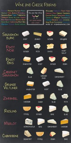 There are also specific charts for pairing French and Italian wine and cheese here, here and here.