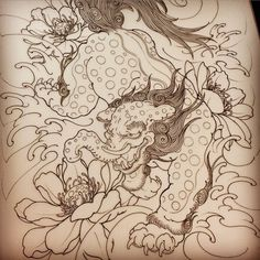 #獏 and #蓮 #baku #lotus #sketch #drawing #tattoo... | HORITSUGU TATTOO
