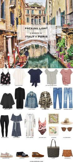 What to Pack for Italy and Paris Packing Light List Boho Style #packinglist #packinglight #travellight #travel #livelovesara