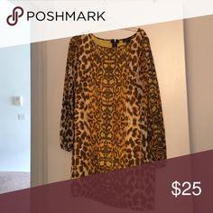 Dress Leopard print dress Rampage Dresses Midi