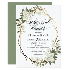 Shop Magnolia gold geometric frame engagement party invitation created by creativepress. Personalize it with photos & text or purchase as is! Gold Invitations, Invitation Card Design, Watercolor Wedding Invitations, Bridal Shower Invitations, Rehearsal Dinner Invitations, Engagement Party Invitations, Rehearsal Dinners, Brunch Invitations, Wedding Rehearsal