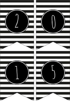 Gratis Printables voor Oud & Nieuw ! Mini Banner 2015...
