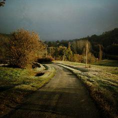 Frosty winters walk, Montesquieu