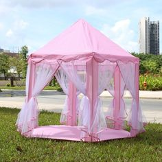 $69.97 HOT NEW ITEM 2017 Portable Princess Castle Play Tent Fairy House Indoor Outdoor Playhouse 3 HOT COLORS - GREAT FOR BIRTHDAYS!! ALL PRINCESS' NEED THEIR OWN CASTLE! Southern-Mama-Boutique.myshopify.com