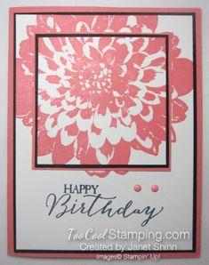 Definitely Dahlia double time card created by Janet Shinn.