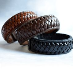 Braided Leather bracelet. Men's bracelet women's by OrigenLeather