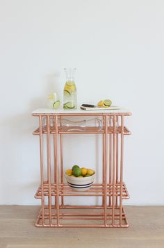 DIY Copper Pipe and Marble Top Side Table
