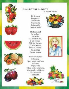 """Temelia,PT cei 7 ani"",P. Health Education, Kids Education, Nursery Worksheets, Romanian Language, Little Einsteins, Kids Poems, Health And Wellbeing, Nursery Rhymes, Preschool Activities"