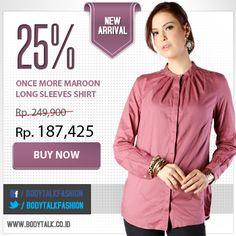 Tampil cantik tak perlu dengan pakaian terbuka lho Ladies. Diskon 25% all item di www.bodytalk.co.id