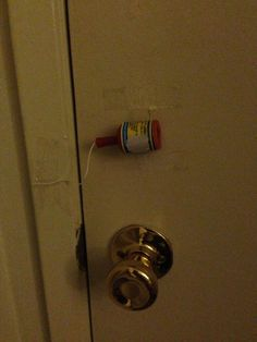 My roommate got engaged, but I'm usually asleep when she gets home. So I attached the celebrating to her door, then jumped out the window. - Imgur