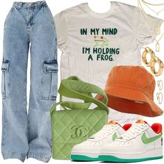 Kpop Fashion Outfits, Indie Outfits, Retro Outfits, Cute Casual Outfits, Stylish Outfits, Casual Teen Fashion, Look Fashion, Korean Fashion, Polyvore Outfits