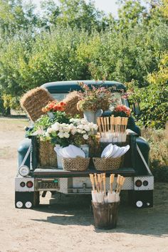 vintage truck styled perfectly Photography by onelove-photo.com, Floral Wedding Design by bearflagfarm.com