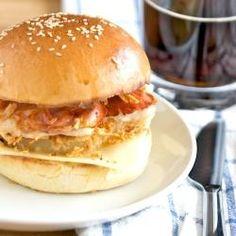Prosciutto Chicken Burgers