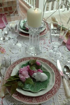 ♥ Spring Tablescape