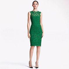 Verde sin mangas Mezclas del algodón del vestido de las mujeres Yafeila – USD $ 13.99