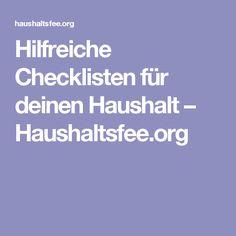 Hilfreiche Checklisten für deinen Haushalt – Haushaltsfee.org
