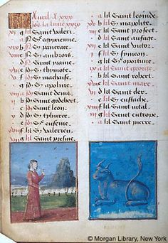 April - Book of Hours - France, Bourges, ca. 1473 - MS M.677 fol. 2v