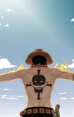 Let's spread Ace to all over the world with us to get an anime stuff you want free. One Piece Manga, One Piece Ace, One Piece New World, One Piece Logo, One Piece Tattoos, One Piece Fanart, One Piece Luffy, One Piece Cosplay, Trafalgar Law Wallpapers