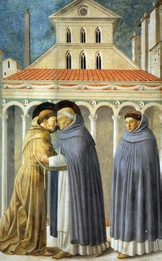 Vision of Meeting of St. Francis and St. Dominic (detail) | San Francesco, Montefalco, Italy | Gozzoli