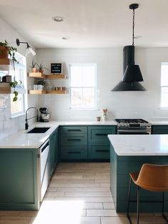 If you are looking for Green Kitchen Cabinets Design Ideas, You come to the right place. Here are the Green Kitchen Cabinets Design Ideas. Green Kitchen Cabinets, Kitchen Cabinet Design, Kitchen Chairs, Kitchen Furniture, Kitchen Decor, Kitchen Ideas, Kitchen Modern, Kitchen Layout, Rustic Kitchen