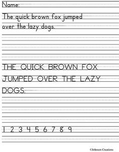 Handwriting Practice Freebie  OutOfTheBox Strategies For