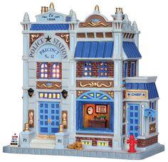 Lemax Police Station Precinct No. 12 #25379 - Miniature Christmas Village Light Up Store - Caddington Collection