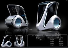 2046 Parsonal Commuter: A personal vehicle for the future for the urbanite of Paris