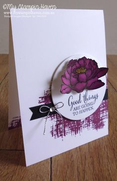 You've Got This: SU!, My Stampin Haven, flower sketch