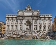 Toss a coin into the Trevi Fountain, which depicts classical figures in sumptuous detail. This example of late Baroque, or almost even Rococo, architecture, is lighter in many ways. It\'s not as formal as earlier Roman Baroque architecture, as it conveys its grandeur less strictly with more free-flowing opulence.