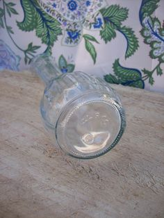 Vintage Clear Glass Flower Vase with Scalloped by FlynnTellsAStory, $3.00