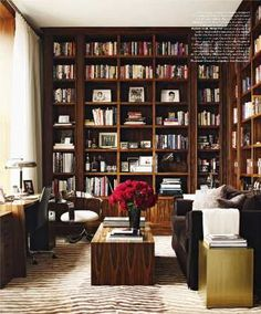 Gorgeous rosewood built-ins