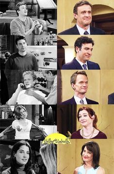 First episode-last episode ❤ HIMYM Movies And Series, Best Series, Tv Series, How I Met Your Mother, I Meet You, Told You So, Barney And Robin, Robin Scherbatsky, Geeks
