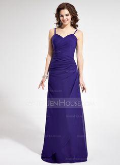 Bridesmaid Dresses - $116.99 - Sheath/Column Sweetheart Floor-Length Chiffon Bridesmaid Dress With Ruffle (007021815) http://jenjenhouse.com/Sheath-Column-Sweetheart-Floor-Length-Chiffon-Bridesmaid-Dress-With-Ruffle-007021815-g21815?ver=1