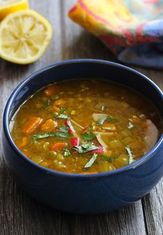 Healing Moroccan Lentil Soup (adjust cooking time for pressure cooker)