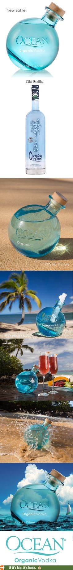 Ocean Vodka had just unveiled their new bottle design. The organic vodka bottle was inspired by old glass fishing net 'floats'. So much better than the old one!