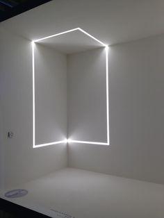 Profil éclairant au plafond encastrable  LED dimmable BRIGHT