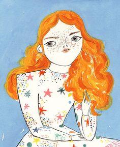 """Red Hair"" by artist Coco Escribano"
