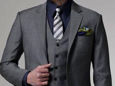 Vincero Gray 3 Piece Suit 2 $699