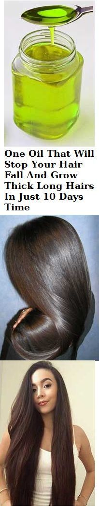 One Oil That Will Stop Your Hair Fall And Grow Thick Long Hairs In Just 10 Days