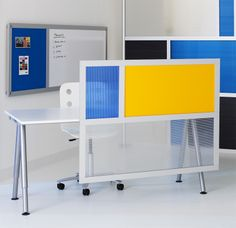 Genial Privacy U0026 Modesty Screen Using Solid Yellow And Translucent Panels.