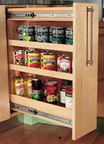 Anna collection tall narrow 5 shelf bookcase k86102c124 at for Narrow pull out kitchen storage