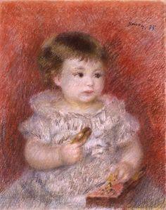 Portrait of Lucien Daudet - Pierre-Auguste Renoir
