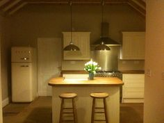 Renovation of century village home - the kitchen 18th Century, Spaces, Kitchen, Table, Furniture, Home Decor, Cooking, Decoration Home, Room Decor